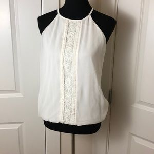 Express white lace halter top